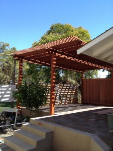 Before and after building a redwood arbor patio cover for Redwood patio cover