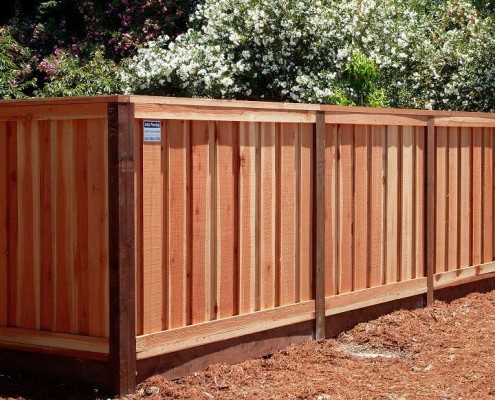 Redwood fencing style choices from a and j fencing picture frame louvered fence workwithnaturefo