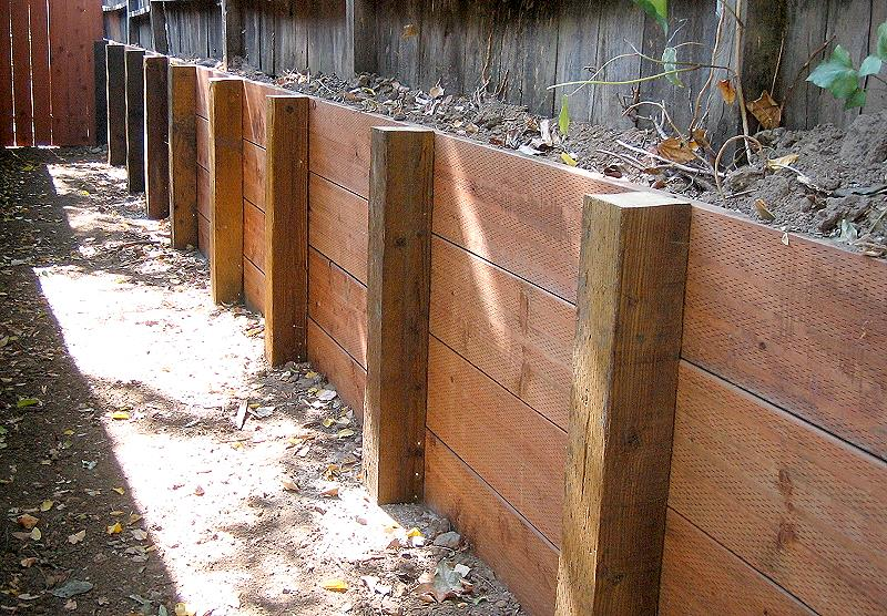 Wood Retaining Wall Metal Retaining Walls If You Want