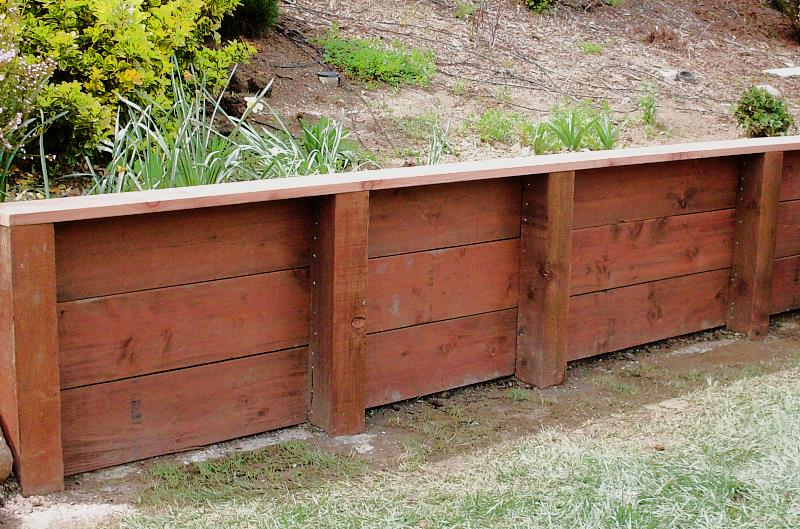 Building A Timber Retaining Wall Nz