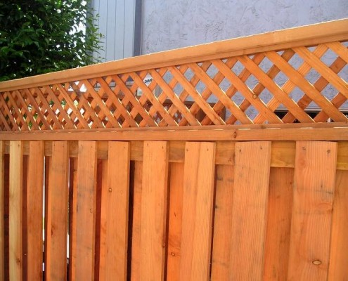Redwood fencing style choices from a and j fencing this custom redwood fencing has multi purposes its great for windy areas because of its open board look but allows for security by keeping the animals in workwithnaturefo