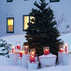Tree-with-candle-buckets
