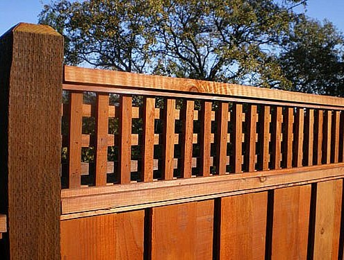 Redwood fencing style choices from a and j fencing thick cut handmade square lattice topping your redwood fence will give it style and privacy many folks choose this style over the standard to give the workwithnaturefo